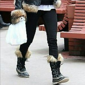 Sorel Joan of Artic waterproof tall boots fur trim